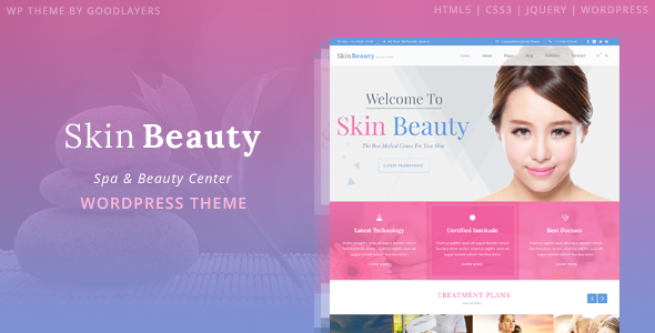 Mẫu web bán mỹ phẩm Skin Beauty - Beauty | Spa | Salon WordPress Theme
