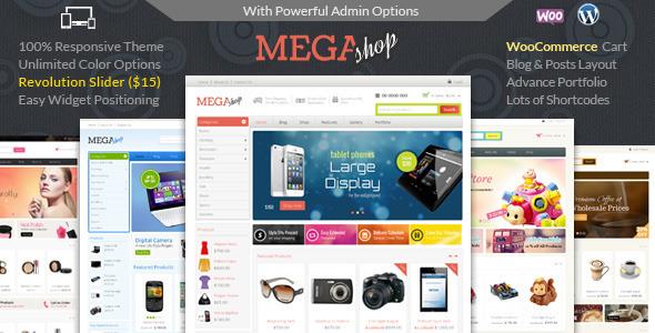 Mẫu web bán mỹ phẩm Mega Shop - WooCommerce Responsive Theme