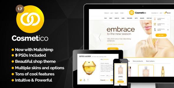thiết kế website bán mỹ phẩm với theme WordPress bán hàng Cosmetico
