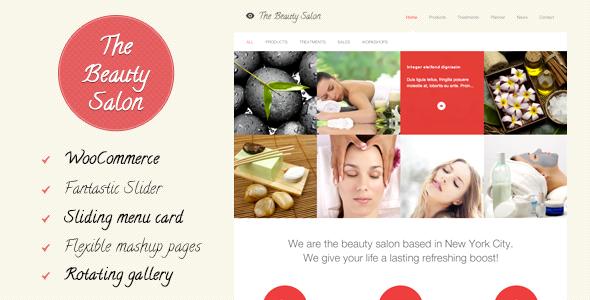 Mẫu web đẹp The Beauty Salon