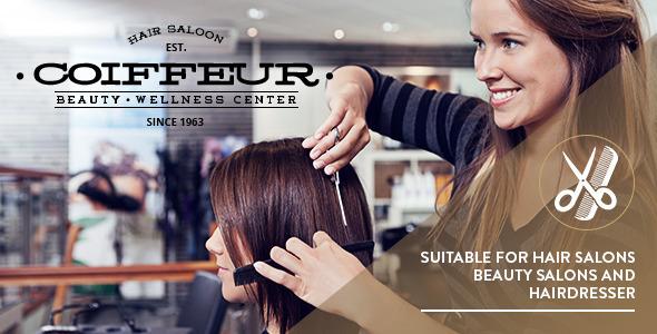 Mẫu web đẹp Coiffeur - Hair Salon WordPress Theme