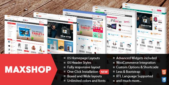 Maxshop - Theme WordPress bán hàng online đa năng