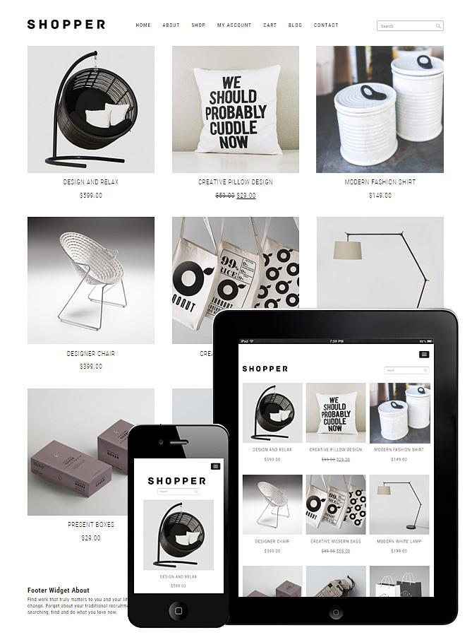 Shopper – theme WordPress bán hàng đẹp tinh tế