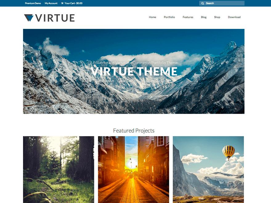 Virtue – theme WordPress bán hàng miễn phí mà chuyên nghiệp