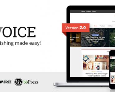 Voice - Theme Wordpress làm blog đẹp nhất hiện nay