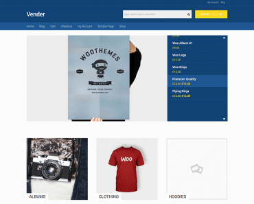 Vender - Theme Wordpress bán hàng đơn giản miễn phí
