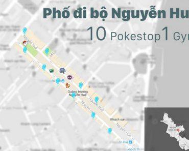 Những địa điểm xuất hiện nhiều Pokemon và Pokestop nhất Việt Nam (8650)