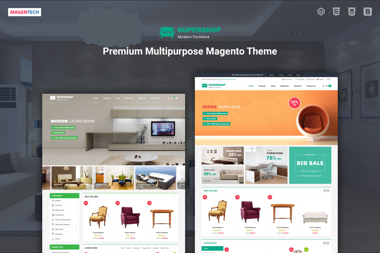 Share Theme SuperShop - Theme Magento bán nội thất chuyên nghiệp
