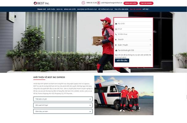 Website công ty giao hàng nhanh, chuyển phát Best Express quận 7 - giaohangtotnhat.vn
