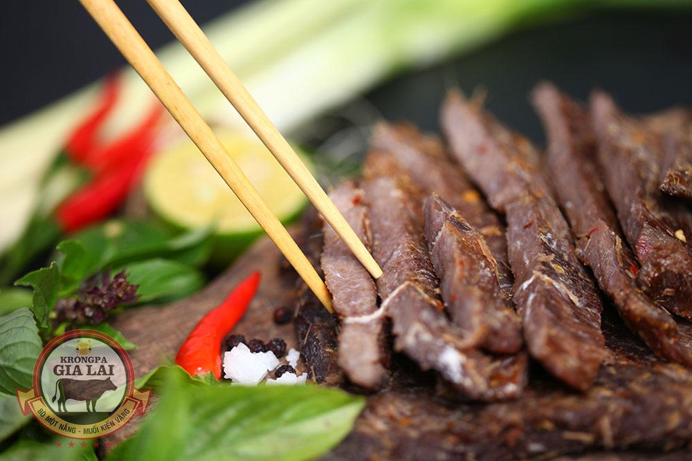 GhienThit.com - Bán nắng bò một nắng muối kiến vàng Krongpa